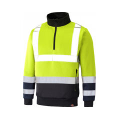 SA22092-Saturn Yellow/navy-Hi-VIS Quarter zip pulóver-L