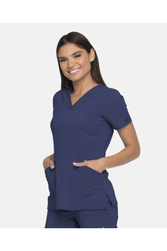 V-nyakú Női Kórházi Tunika  - navy