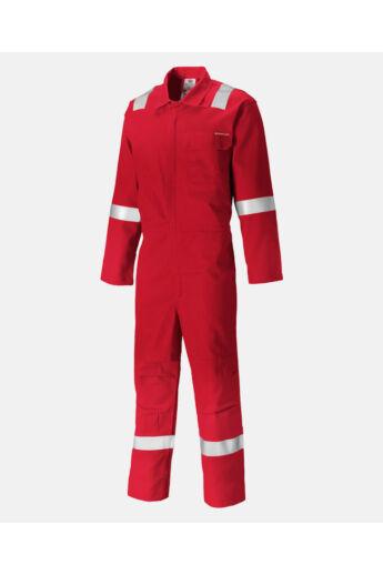 Lángálló munkaoveráll plusz Piros