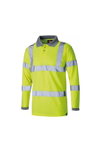 SA22077-L-Yellow-Láthatósági hosszú ujjú póló