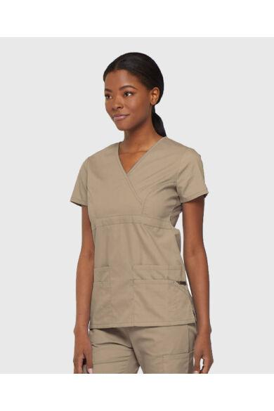 V-nyakú Női Egészségügyi Felső  - Khaki