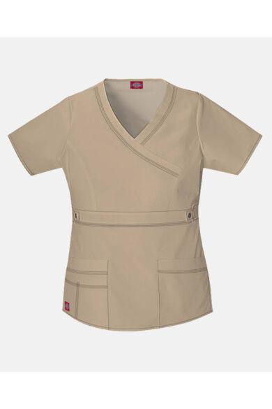 V-nyakú Női Egészségügyi Tunika  - khaki