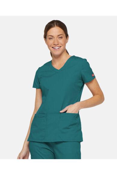 V-nyakú Női Egészségügyi Tunika  - Teal