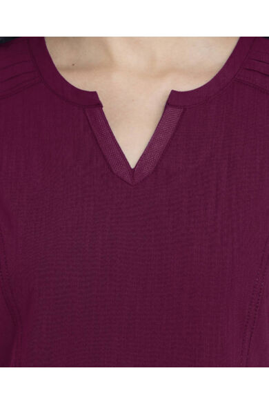 V-nyakú Női Egészségügyi Tunika  - borvörös