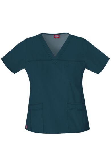 V-nyakú Női Egészségügyi Felső  - caribbean blue