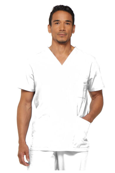 Férfi V-nyakú Kórházi Felső  - white