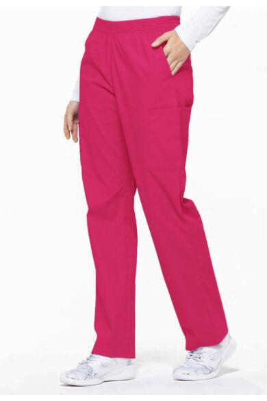 Gumírozott derekú Női Egészségügyi Nadrág-Hot Pink