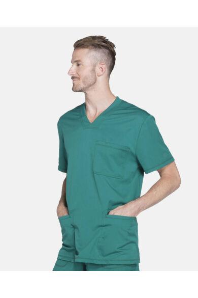 Férfi V-nyakú Egészségügyi Felső  - hunter green