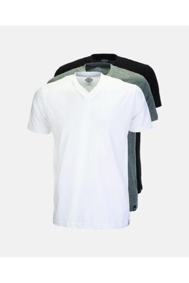 V-nyakú Póló Csomag (Fehér, Fekete, Szürke)