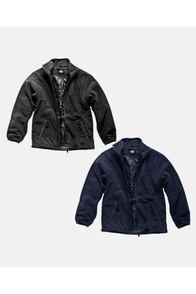 Bélelt fleece kabát Fekete