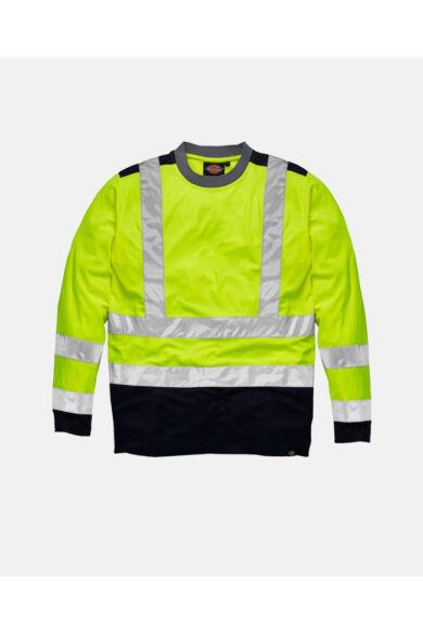 Two Tone jól láthatósági hosszú ujjú póló Yellow