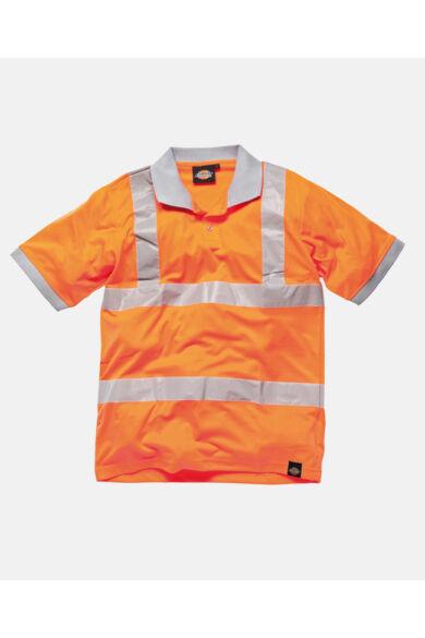 Jól láthatósági galléros póló Orange