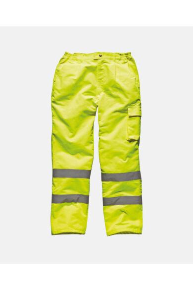 Polycotton jól láthatósági munkásnadrág Yellow