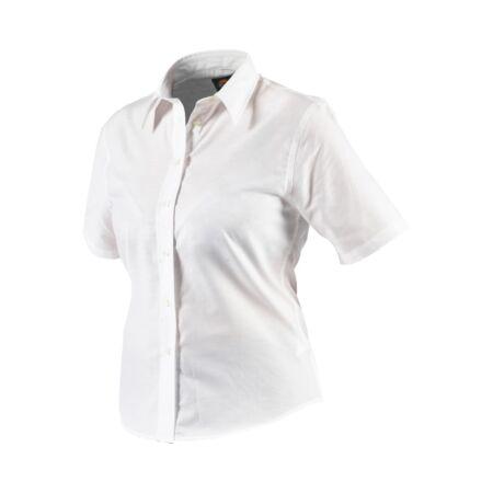 Munkaruha ing rövid ujjú SH64350-14-White-Női Oxford